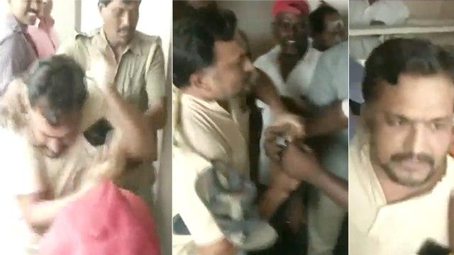 பாஜக அலுவலகத்தில் கேள்வி கேட்ட பியூஷ் மனுஷ் மீது   சரமாரி தாக்குதல்   piyush manush