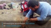 Hallazgo de 227 restos de niños sacrificados en ritual precolombino en Perú