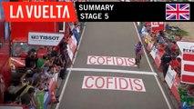 Summary - Stage 5   La Vuelta 19