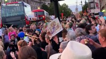 "Lively atmosphere as Londoners say ""stop the coup"" and sing anti-Boris after announcement to shut down Parliament"