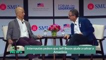 Internautas pedem que Jeff Bezos ajude a salvar a Amazônia