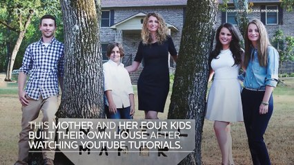 This Mother and Her Four Kids Built Their Own House After Watching Youtube Tutorials