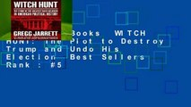 About For Books  WITCH HUNT: The Plot to Destroy Trump and Undo His Election  Best Sellers Rank : #5