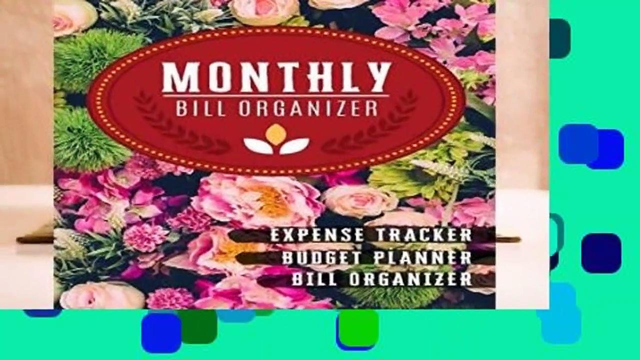 [FREE] Monthly Bill Organizer: home bills organizer   Weekly Expense Tracker Bill Organizer