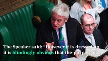 Bercow v Boris- Speaker infuriated by PM's move to suspend Parliament