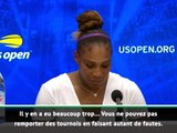 "US Open - Williams : ""Il fallait que je joue mieux"""