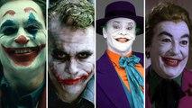 The JOKER laugh comparison : Jack Nicholson, Heath Ledger, Joaquin Phoenix, Jared Leto