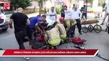 Kadıköy'de bisikletinden düşen çocuğun bacağına gidon saplandı