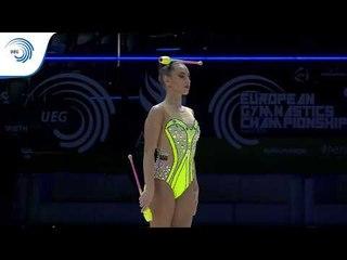 Katrin TASEVA (BUL) - 2019 Rhythmic Gymnastics European Championships, clubs final