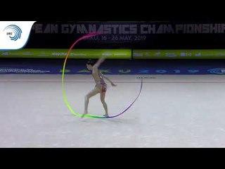 Milena BALDASSARRI (ITA) - 2019 Rhythmic Gymnastics European Championships, ribbon final