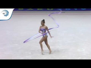 Katrin TASEVA (BUL) - 2019 Rhythmic Gymnastics European Championships, ribbon final
