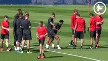 L'entraînement du jour de Neymar