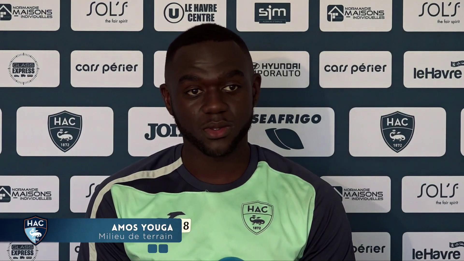 Avant Caen – HAC, interview de Amos Youga