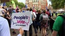 Royaume-Uni : une grand-mère clame sa position anti-Brexit en taguant les murs
