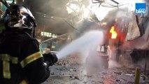 L'incendie au cœur de l'usine Manoir Industries