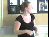 Camille danse pour le dernier jour de cours