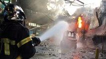 Bouzonville : impressionnant incendie à l'usine Manoir