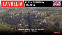 Summary - Stage 6   La Vuelta 19
