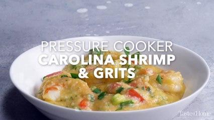 Pressure Cooker Carolina Shrimp and Grits