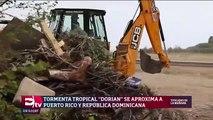 Tormenta Dorian se fortalece en su camino a Puerto Rico y Dominicana