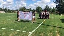 Tough Football Banner Prevents Team Entrance