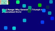 [Doc] Range: Why Generalists Triumph in a Specialized World