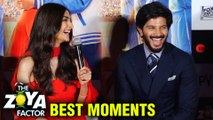 Sonam Kapoor And Dulquer Salmaan BEST MOMENTS From The Zoya Factor Trailer Launch