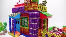 DIY - How To Build Colored Hello Kitty House From Magnetic Balls ( Satisfying )   Magnet World 4K