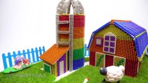 DIY - How To Build Macdonald Farm From Magnetic Balls ( Satisfying )   Magnet World 4K
