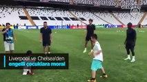 Liverpool ve Chelsea'den engelli çocuklara moral