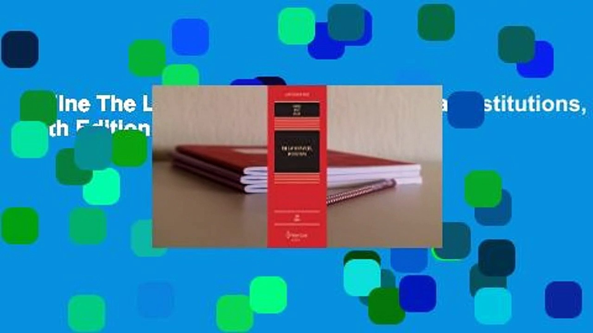 Online The Law of Banking and Financial Institutions, Fifth Edition  For Trial