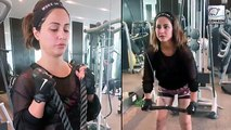 Hina Khan Shows Off Her Kick Boxing Skills