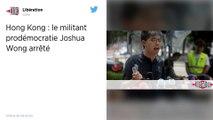 Hong Kong : Le militant pro-démocratie Joshua Wong de nouveau arrêté