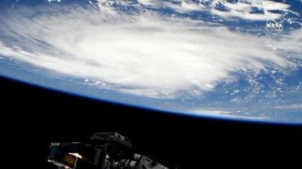 El huracán Dorian visto desde la Estación Espacial Internacional