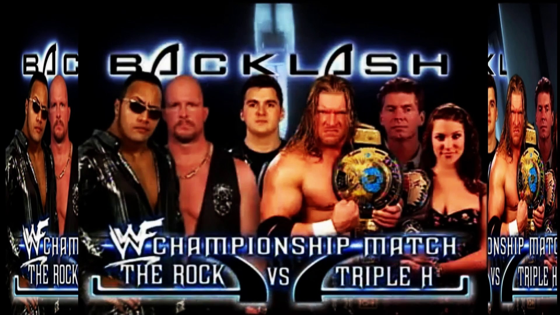The rock vs Triple H WWF Backlash 2000 Highlights