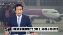 Japan's Peach Aviation to suspend three South Korea routes on lack of demand