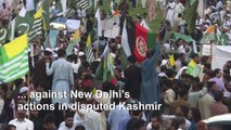 Thousands rally in Pakistan over Kashmir after PM Khan calls for nationwide demos