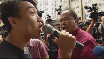 Hong Kong protests: Rival marchers square off against protesters