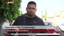 Operativo en el transporte público deja 12 detenidos