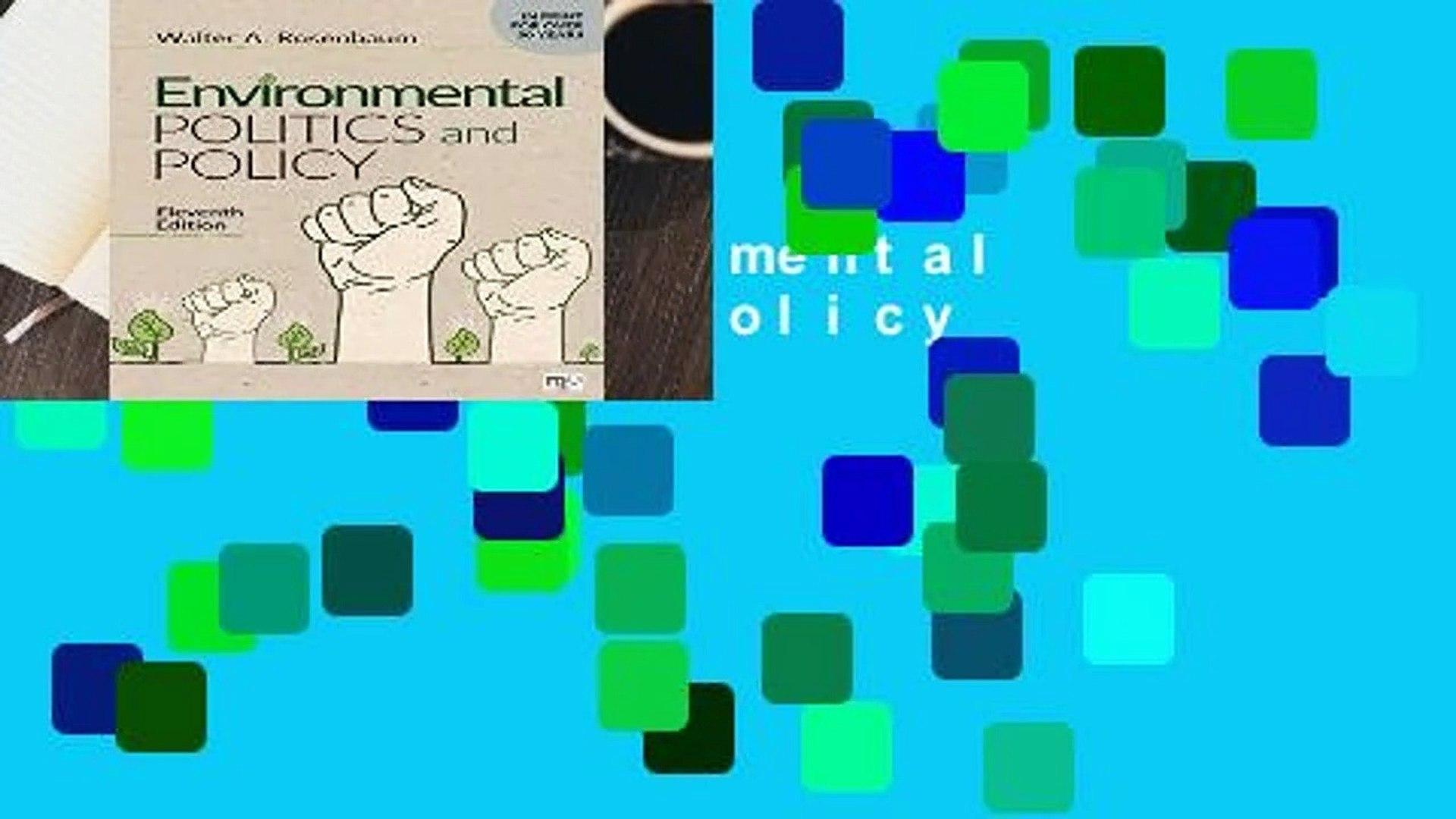 [FREE] Environmental Politics and Policy