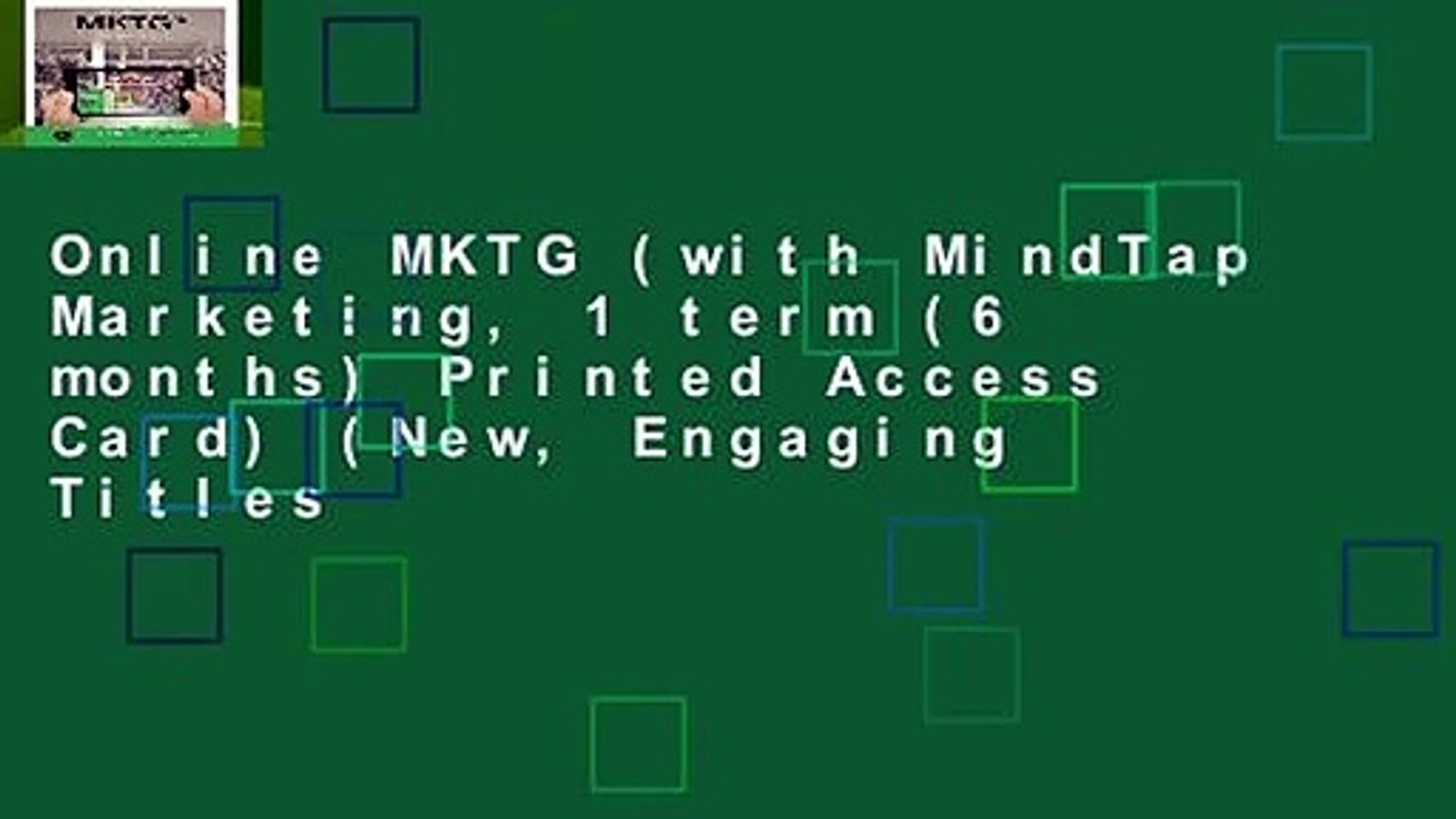 for MindTap MKTG with Printed Access Card 6-Months