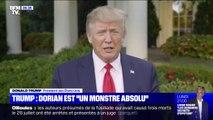 """Donald Trump qualifie de """"monstre absolu"""" l'ouragan Dorian qui menace les États-Unis et les Bahamas"""