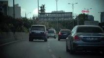 Makas atarak ilerleyen trafik magandası kamerada....
