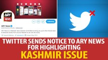 Twitter sends notice to ARY News for highlighting Kashmir issue