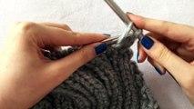 How to make a neat edge decrease in a rib stitch (k1,p1 & p1,k1)