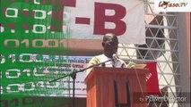 Le secrétaire général de L'organisation démocratique des jeunes Willy Sanou livre le message central du meeting