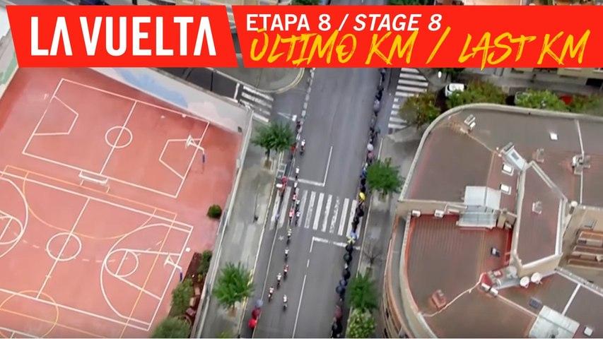 Last kilometer - Stage 8   La Vuelta 19