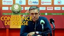 Conférence de presse Le Mans FC - FC Sochaux-Montbéliard (2-0) : Richard DEZIRE (LEMANS) - Omar DAF (FCSM) - 2019/2020