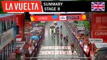 Summary - Stage 8   La Vuelta 19