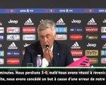 """Naples - Ancelotti : """"On a mérité de perdre"""""""